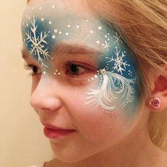 Elsa face paint by Naztrida, via Flickr