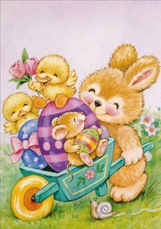 ᐅ ostermontag bilder - ostermontag gb pics - gbpicsonline Easter Art, Easter Crafts, Christmas Greeting Cards, Christmas Greetings, Ostern Wallpaper, Easter Bunny Pictures, Easter Paintings, Happy Birthday Card Design, Easter Illustration