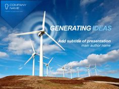 Wind Energy PowerPoint Template by Dynamic Template