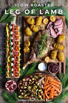 This Holiday Season may look a little different, but just because you are celebrating with a Micro-Christmas Dinner, it does not mean it cannot be festive and incredibly delicious! How about preparing a tender, juicy, slow roasted leg of lamb, crispy hasselback potatoes, roasted carrots with rosemary and Brussels sprouts with ribbons of prosciutto, then sprinkled with pomegranate arils? #christmasdinner #holidaymeal #specialoccasion #legoflamb Hasselback Potatoes, Easter Weekend, Roasted Carrots, Holiday Recipes, Lamb, Special Occasion, Snacks, Dinner, Ethnic Recipes