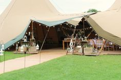 Two Giant Hat tipi woodland themed styling by The Rustic Wedding Company