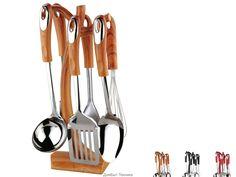 PH-1237Набор кухонных инструментов из 7 предметовВысококачественная нержавеющая сталь 18/10Ручки из бакелита (цвет:...