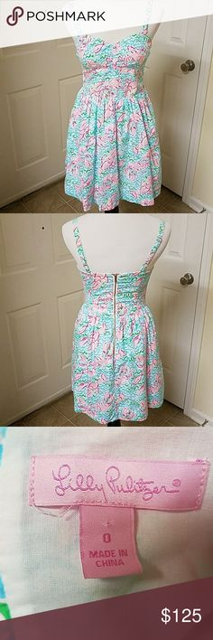 Lilly Pulitzer Dress EUC Lilly Pulitzer Dress in Lobstah Roll Print a Holy Grail of Lilly Pulitzer Prints Lilly Pulitzer Dresses