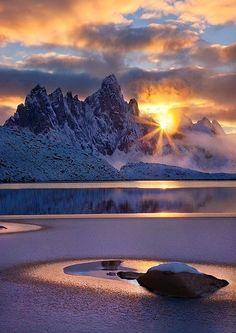 Sunset in theYukon Territory, Canada.