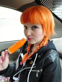 I like this orange hair for some reason.  Amber!!!!!!! LOL.