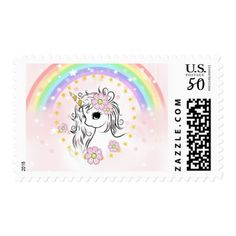 Pink baby shower chocolate dipped oreo pink rainbow unicorn stamp baby birthday sweet gift idea special customize personalize negle Gallery