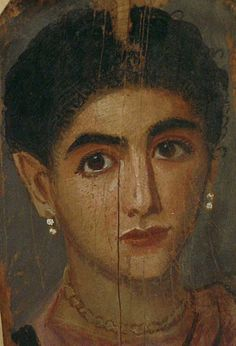 Roman women went through a lot to keep up their beauty to show their class. Their take on a beauty mask was a mix of sweat from sheep's wool placenta, excrement, animal urine, sulphur, ground oyster shells and bile. Talk about a processes! Roman Art, Ancient, Portraiture, Painting, Egyptian Art, Art, Portrait, Art History, Ancient Paintings