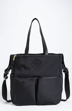Diaper bag I want! Getting it!! Tory Burch Stacked Logo Baby Bag available at #Nordstrom