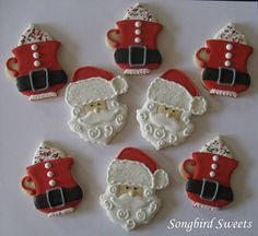 Santa Faces & Santa Hot Chocolate mugs