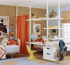 Perhaps not for the living room. Yet a nice idea  http://www.homedzine.co.za/kids/images/double-1.jpg
