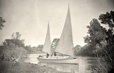 "The ""Nettie"", an expedition boat on the Truckee River, western Nevada, in 1867."
