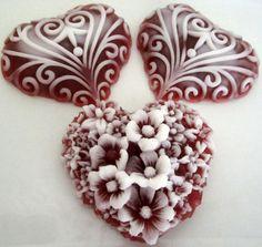 25 Heart Soaps  Wedding Favor  Bridal Shower Favor  by aromacreek, $40.00