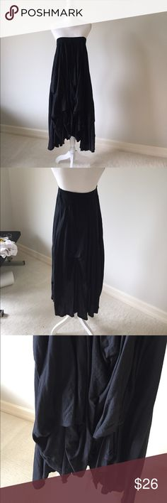 Strapless dress with draped bottom Black strapless dress with drape skirt can be worn as casual or dressed up Dresses Strapless