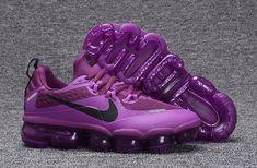 Zero Defect NIKE AIR VAPORMAX FLYKNIT Black Purple women's Running Shoes 709384 010