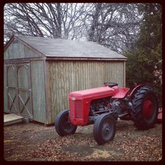 The old red tractor..