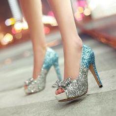 Glitter Women Pumps Platform Peep Toes High Heels Spike Bridal Shoes Woman  - 6   Gold ee7f9f9b31b3