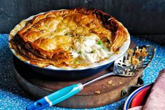 With golden puff pastry and a creamy filling, nothing beats a good old fish pie.