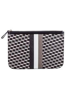 PIERRE HARDY Pierre Hardy Cube Stripe Clutch. #pierrehardy #bags #clutch #hand bags #