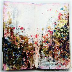 Some close ups: Scrapiniec Products: Fern Flowers Art Journal Pages, Art Journals, Journal Ideas, Altered Books, Altered Art, Creative Diary, Inspiring Art, Journalling, Fern