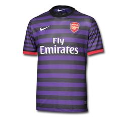 Arsenal have unveiled their new away kit for the Premier League season. and it's purple! (Moreover, the Arsenal away goalie kit is pink, see Arsenal Soccer, Arsenal Jersey, Arsenal Kit, Sports Shirts, Football Shirts, Premier League Teams, Youth Soccer, Soccer Jerseys, Sports