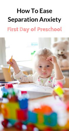 First Day Of Preschool - How To Prevent #SeparationAnxiety #parenting #parentingforbrain