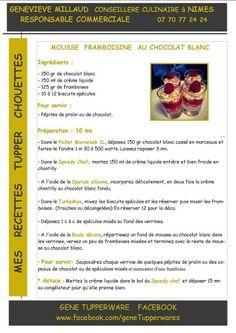 Tupperware - Mousse framboisine au chocolat blanc