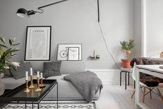 Piso pequeño con paredes grises