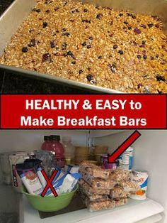 Healthy Breakfast Bars - That REALLY do taste yummy!