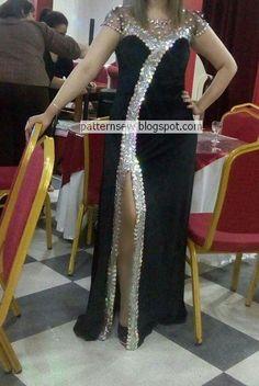 باترون مفصل لفستان سواريه - Pattern Sewing