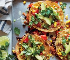 Comfort Food Recipes Packed With Superfoods: These Veggie Enchiladas pack almost all of your daily Vitamin C #SELFmagazine