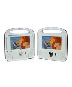 "Take a look at this 7"" Dual LCD Portable DVD Player Set by Disney on #zulily today!"
