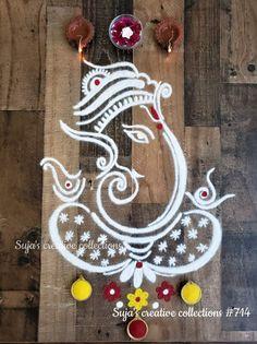 Basic Mehndi Designs, Rangoli Designs Latest, Back Hand Mehndi Designs, Simple Rangoli Designs Images, Rangoli Designs Flower, Rangoli Patterns, Rangoli Ideas, Rangoli Designs Diwali, Rangoli Designs With Dots