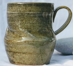 Pottery Mug, Stoneware clay,hi fired, reduction fired-multi tone effect, slip decorated, Microwave and Dishwasher-safe, Wheel-Thrown by FireonClay on Etsy The Potter's Wheel, Gas Fires, Stoneware Mugs, Pottery Mugs, Moscow Mule Mugs, Ranges, Unique Jewelry, Tableware, Glaze