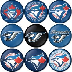 "Toronto Blue Jay MLB 1.75"" Badges Pinbacks, Mirror, Magnet, Bottle Opener Keychain http://www.amazon.com/gp/product/B00K452ON2"