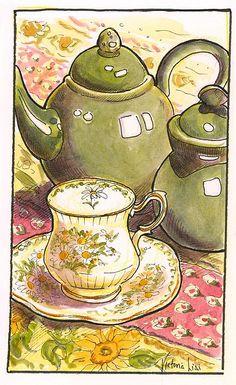 Victoria Lisi moleskin watercolor and ink sketch
