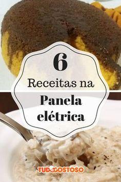 O TudoGostoso vai te mostrar 6 receitas para fazer na panela elétrica de arroz que são práticas e deliciosas — tem até moqueca e pudim! Pasta, Tupperware, Oatmeal, Electric Cookers, Vegan, Cooking, Breakfast, Recipes, Rapunzel