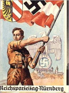 Propaganda poster for Reichs party day in Nuremberg
