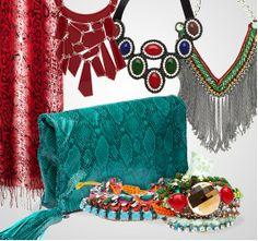 Acessórios coloridos deixam looks elegantes e vibrantes