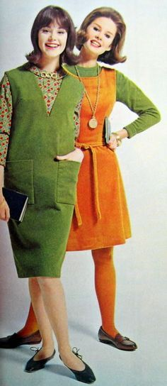 Colleen Corby and Susan van Wyck, Chic Miss Magazine, 1964 - more popular looks. 60s Fashion Trends, 60s And 70s Fashion, Mod Fashion, Fashion Models, Vintage Fashion, 1960s Dresses, Vintage Dresses, Vintage Outfits, Vintage Hair
