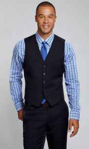 The Foundation Suit Vest - Navy