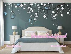 Nursery Decals Girl, Kids Wall Decals, Nursery Room, Tree Decals, Wall Decals For Bedroom, Bedroom Wall Paints, Decals For Walls, Tree Decal Nursery, Wall Sticker Design