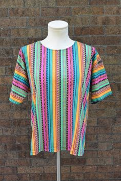 Vintage Ethnic Shirt Size Medium Tribal by littleraisinvintage, $12.00