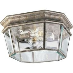 Progress Lighting Crawford Collection Golden Baroque 2-light Outdoor Flushmount-P5535-50 at The Home Depot
