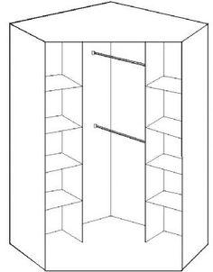 Genoa Oak Effect 2 Door German Corner Wardrobe (112511)