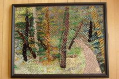 N45 02.591' W078 30.164 - This one is not for sale. My next professionally framed masterpiece. This is another one of my faux chenille fabric art pieces, or as I call them, Tactile Textiles.