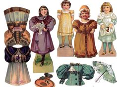 Antique Lot 1890s Die Cut Advertising Paper Doll McLaughlin's Coffee JP Coats | eBay
