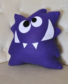 Monster Plush Pattern PDF Tutorial and Printable Templates -Nom Nom Monster Pillow Pattern Monster Plush Pattern PDF Tutorial und di bedbuggspatterns su Etsy