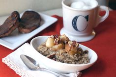 Roasted Cinnamon Apple Oatmeal by adventuresinthekitchen: The real thing, because meals matter : )  #Oatmeal #Roasted_Cinnamon_Apple_Oatmeal #adventuresinthekitchen