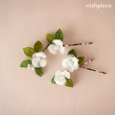 Small Hair Flowers Floral Hair Accessories Wedding by wishpiece