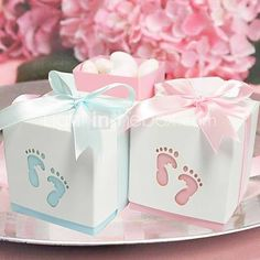 Pterry Feet Cut-out Favor Box - Set of 12 (More Colors) - USD $6.99